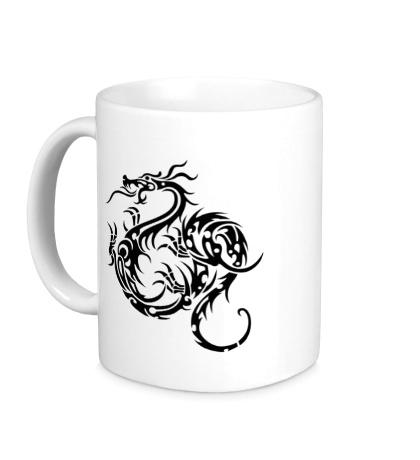 Керамическая кружка Тату дракон
