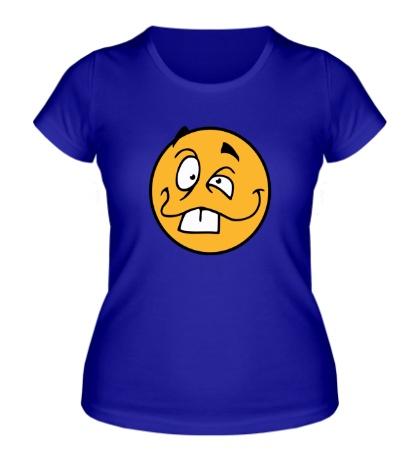 Женская футболка Неадекватный смайл