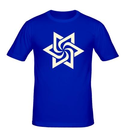 Мужская футболка Звезда торнадо, свет