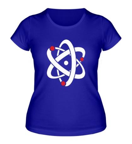 Женская футболка Символ атома