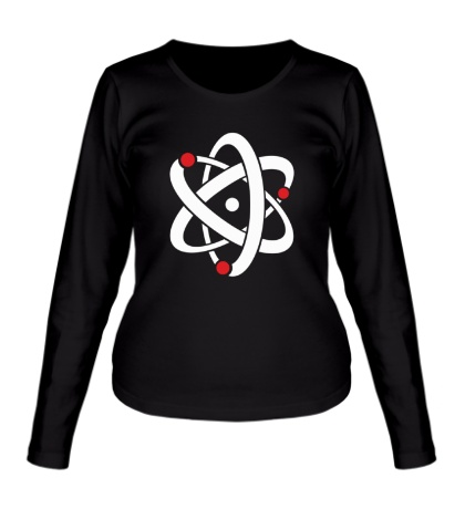 Женский лонгслив Символ атома