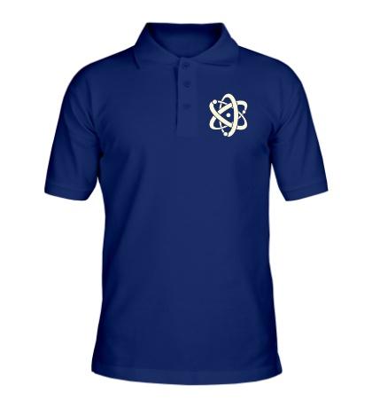 Рубашка поло Символ атома, свет