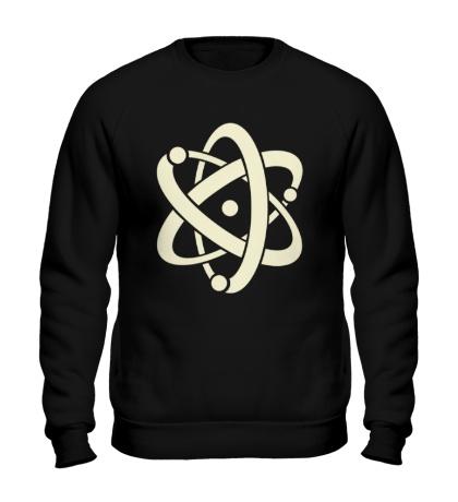 Свитшот Символ атома, свет