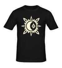 Мужская футболка Исламский полумесяц, свет