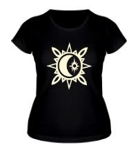Женская футболка Исламский полумесяц, свет