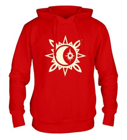 Толстовка с капюшоном Исламский полумесяц, свет