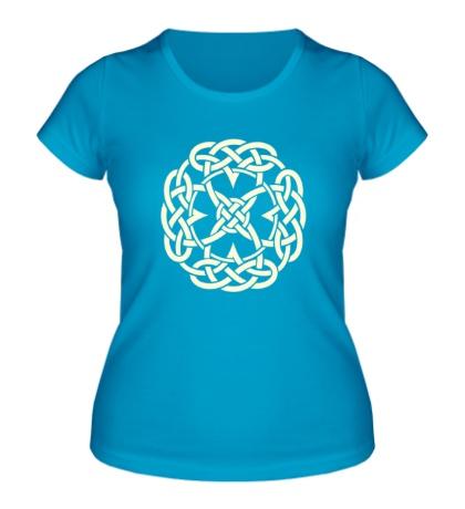 Женская футболка Кельтский символ, свет