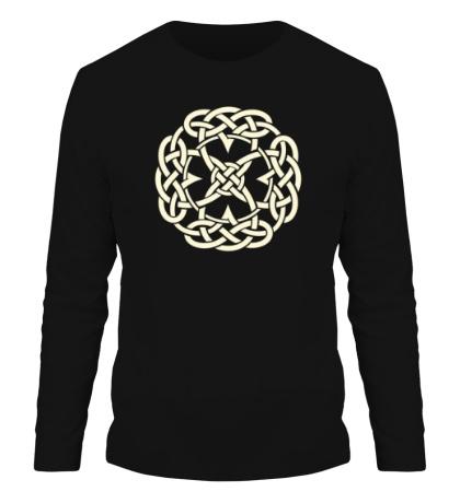 Мужской лонгслив Кельтский символ, свет