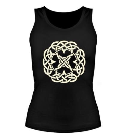 Женская майка Кельтский символ, свет