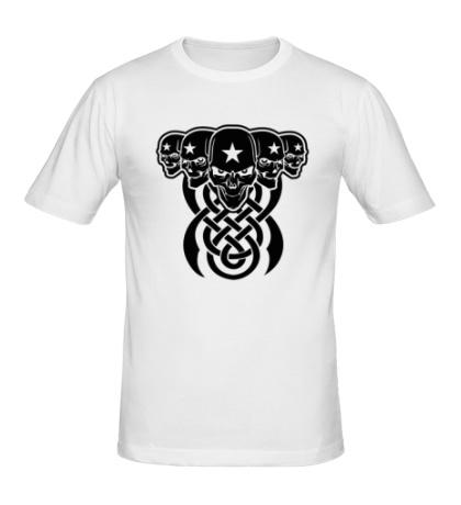 Мужская футболка «Кельтские черепа»