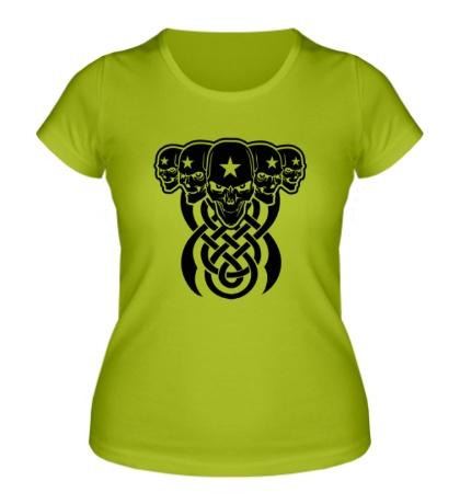 Женская футболка Кельтские черепа