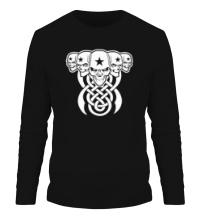 Мужской лонгслив Кельтские черепа