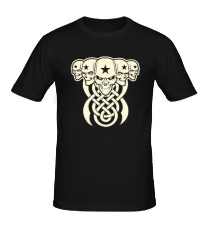 Мужская футболка Кельтские черепа, свет