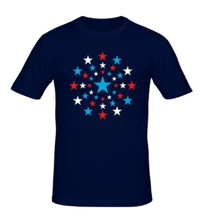 Мужская футболка Звездный взрыв