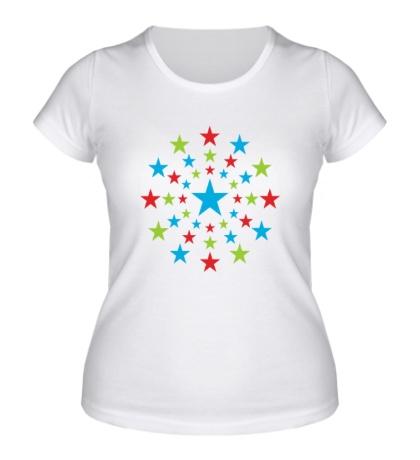 Женская футболка Звездный взрыв
