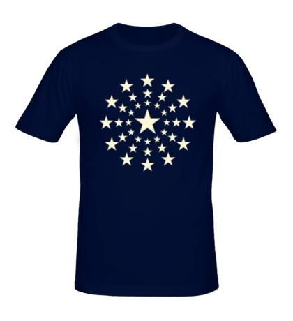 Мужская футболка Звездный взрыв, свет