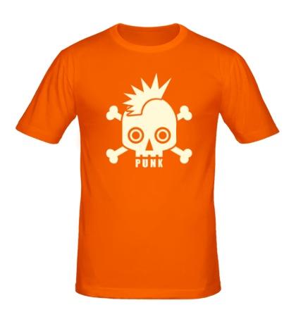 Мужская футболка Панковский череп, свет
