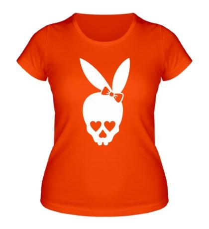 Женская футболка Череп зайца