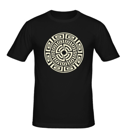 Мужская футболка Руна круговорота, свет