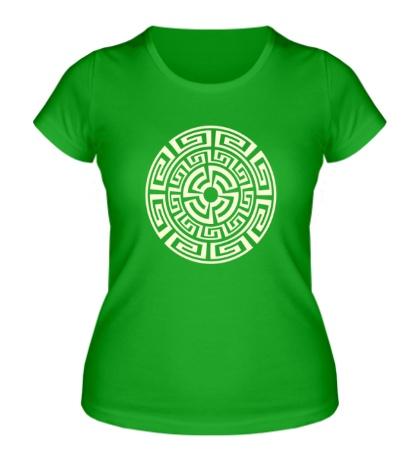 Женская футболка Руна круговорота, свет