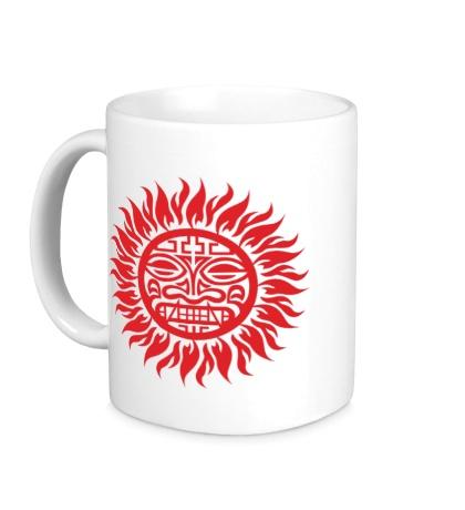 Керамическая кружка Солнце: древний символ