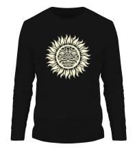 Мужской лонгслив Солнце: древний символ, свет