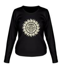 Женский лонгслив Солнце: древний символ, свет