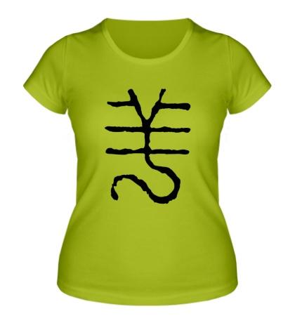 Женская футболка Год овцы: китайский символ