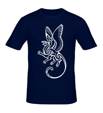 Мужская футболка Грифон орнамент