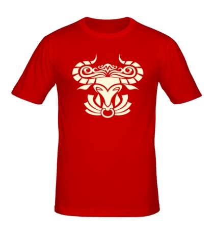 Мужская футболка Символ быка свет