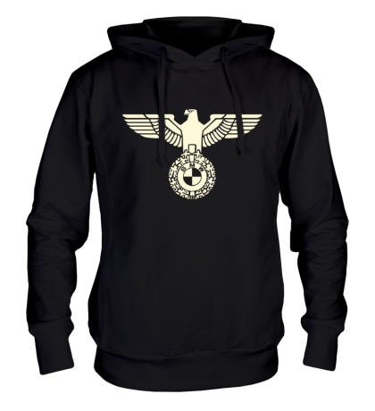 Толстовка с капюшоном Орел со знаком БМВ, свет