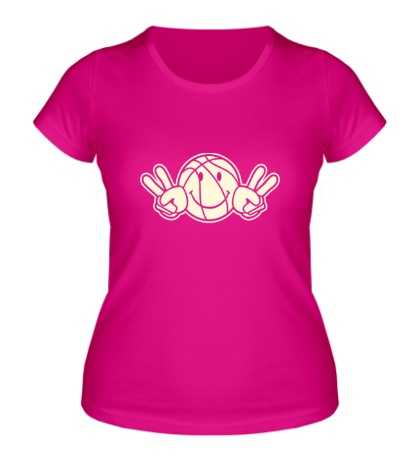 Женская футболка Баскетбольный смайл, свет