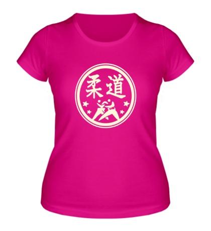 Женская футболка Символ Дзюдо, свет