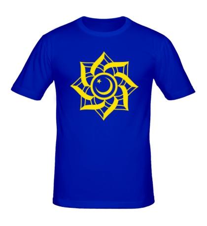 Мужская футболка Цветок-полумесяц