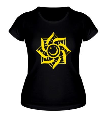 Женская футболка Цветок-полумесяц