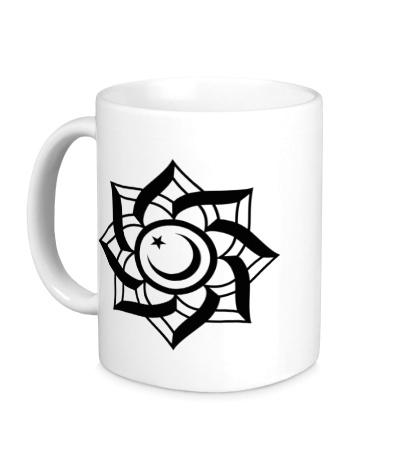 Керамическая кружка Цветок-полумесяц