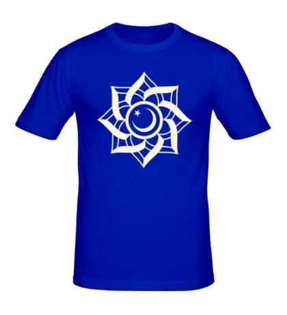 Мужская футболка Цветок-полумесяц, свет