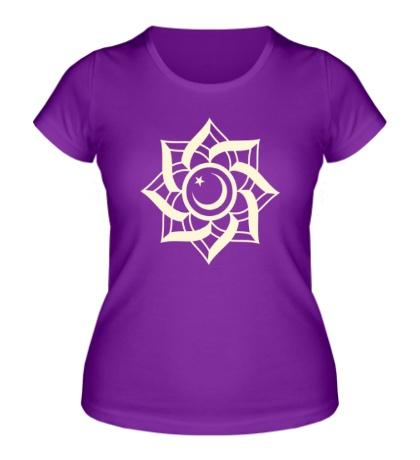 Женская футболка Цветок-полумесяц, свет