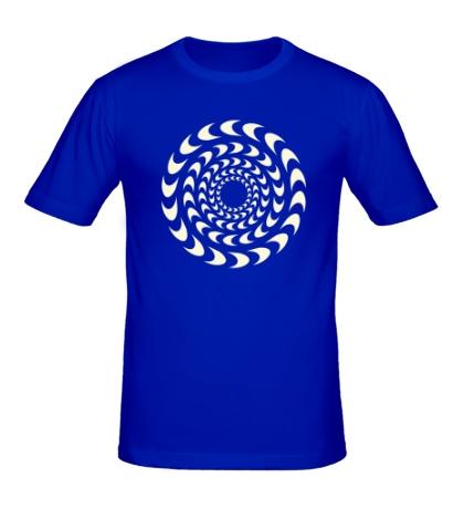 Мужская футболка Иллюзия вращения, свет