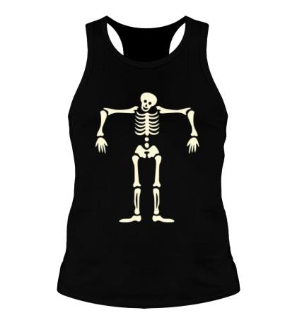 Мужская борцовка Скелет марионетка свет