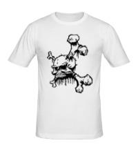Мужская футболка Демонический череп