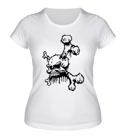 Женская футболка Демонический череп