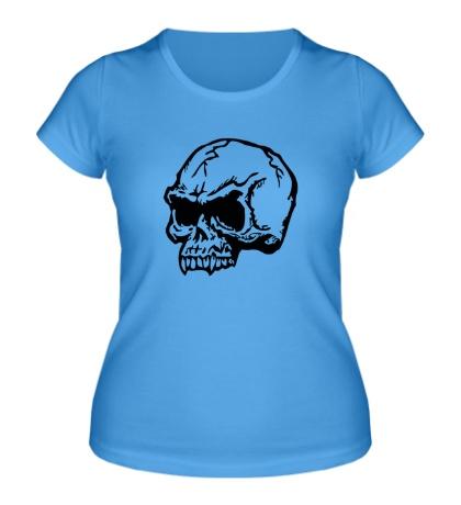 Женская футболка Череп хищника