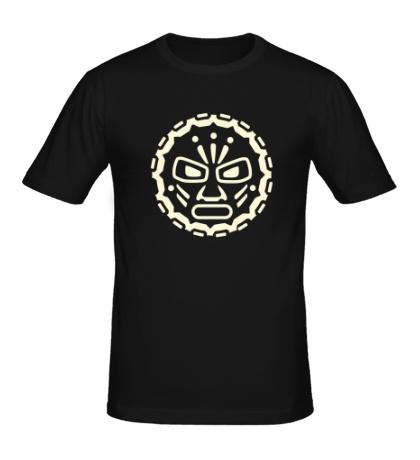 Мужская футболка Руна индейских племен, свет