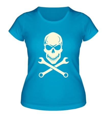Женская футболка Механическое братство свет