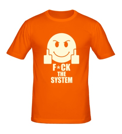 Мужская футболка Fuck the System Glow