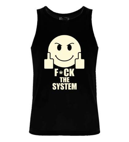 Мужская майка Fuck the System Glow