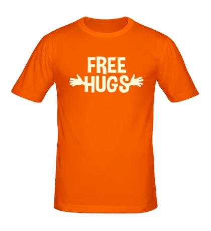 Мужская футболка Бесплатные обнимашки свет