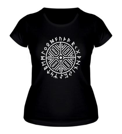 Женская футболка Рунический круг