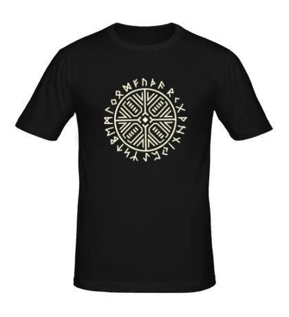 Мужская футболка Рунический круг, свет